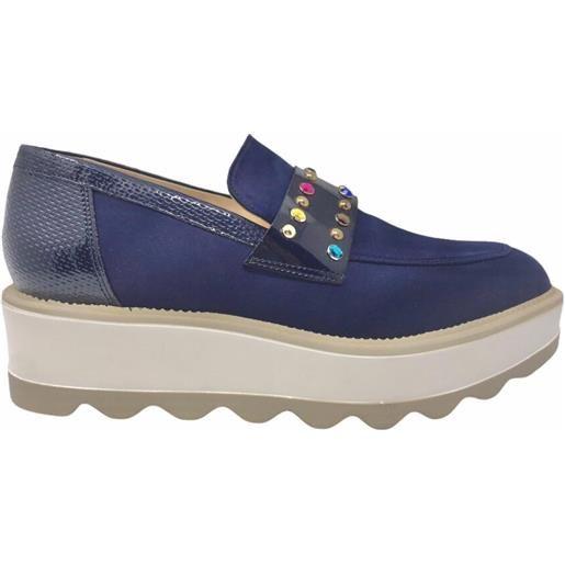 LORENZO MARI scarpa raso blu lor641