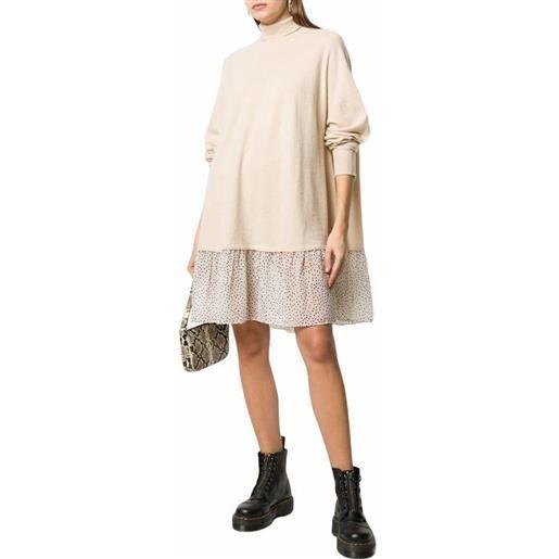 SEMICOUTURE abito serenity lana e pois