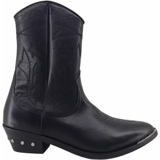 CATARINA MARTINS abbey leather mid boots black