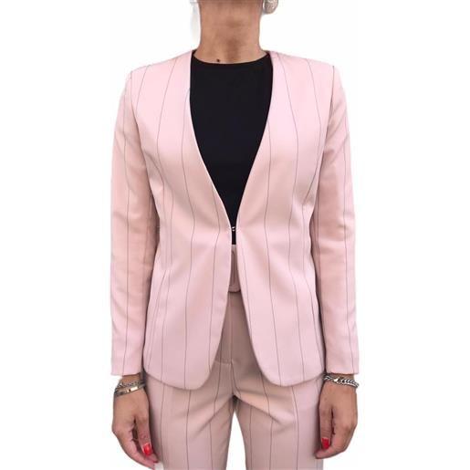 CAIPIRINHA giacca rosa gessato