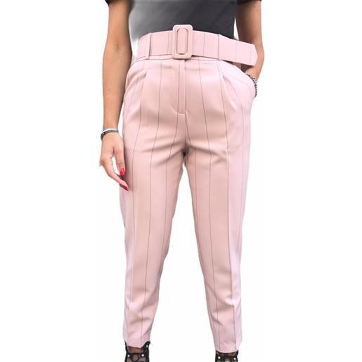 CAIPIRINHA pantalone rosa gessato