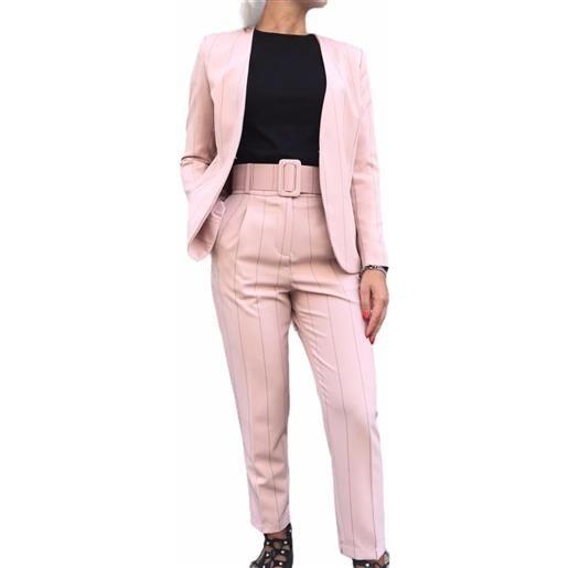CAIPIRINHA tailleur rosa gessato