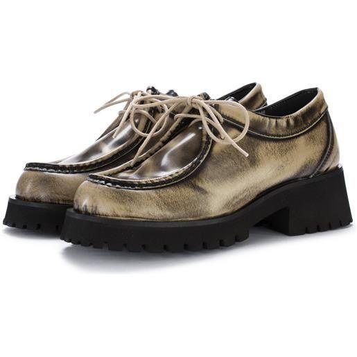 POESIE VENEZIANE scarpe basse donna POESIE VENEZIANE   abrasivato taupe nero