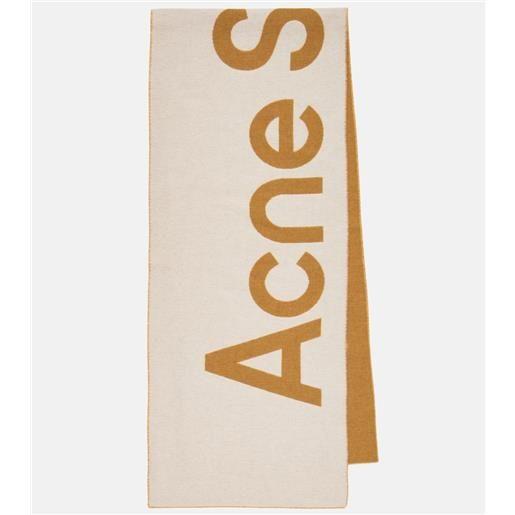 Acne Studios sciarpa in misto lana con logo