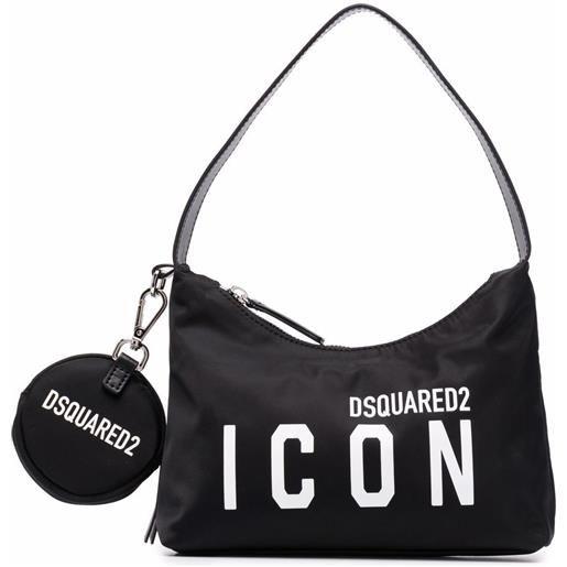 Dsquared2 borsa a spalla con stampa - nero