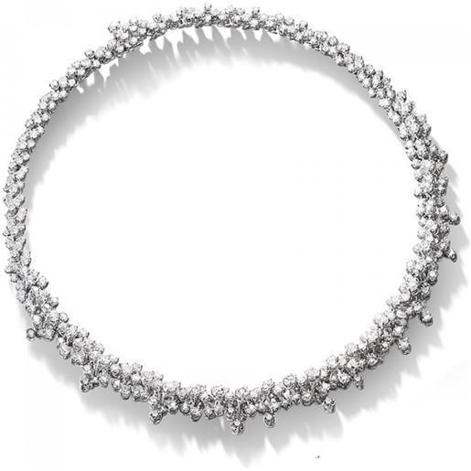 Damiani collana mimosa in oro bianco con diamanti