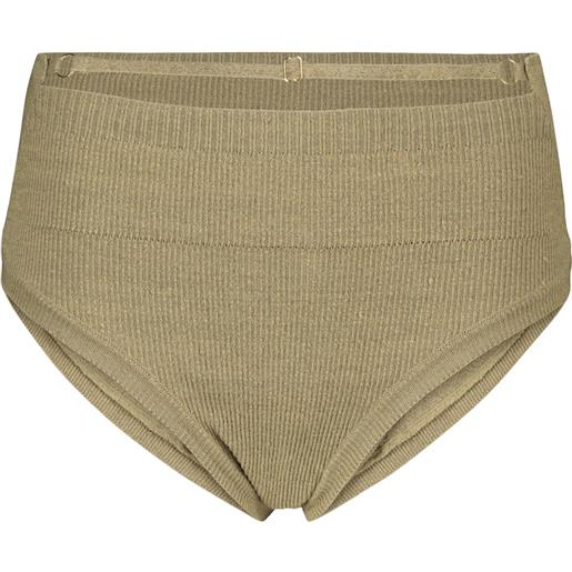 Jacquemus culottes picchu in misto lino a coste