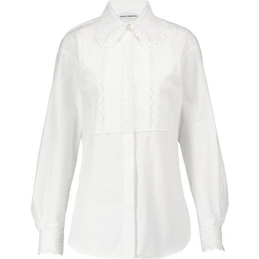 Paco Rabanne camicia in popeline di cotone