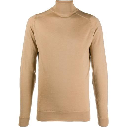 John Smedley maglione a collo alto - marrone