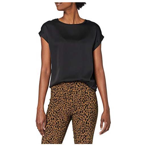 Vila viellette s/s satin top/su-noos t-shirt, fungi, 44 donna