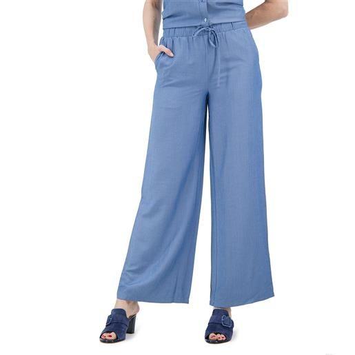 Nina Leonard pantaloni ampi in misto viscosa