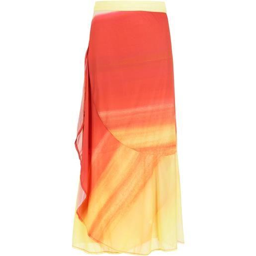 Amir Slama pareo plissettato saia - arancione