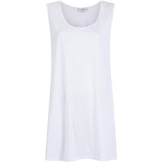 Amir Slama abito modello t-shirt smanicato - bianco