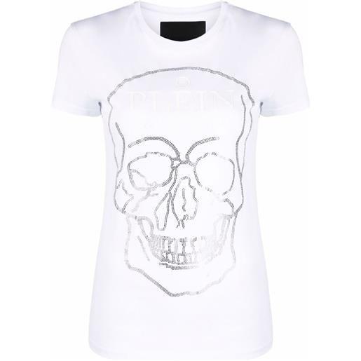 Philipp Plein t-shirt con decorazione - bianco