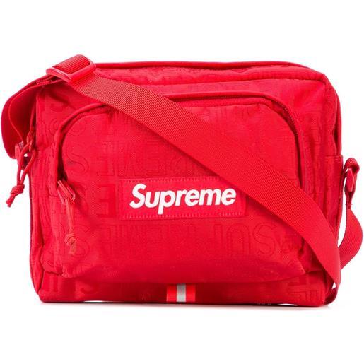 Supreme borsa a spalla con applicazione - rosso