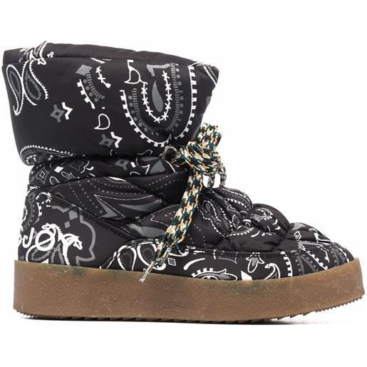 Khrisjoy stivali con stampa puff - nero