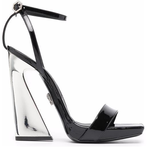 Philipp Plein sandali con tacco alto - nero