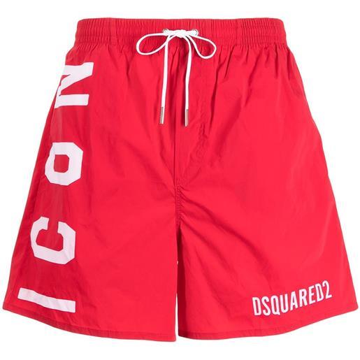 Dsquared2 costume da bagno con coulisse - rosso