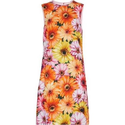 Dolce & Gabbana miniabito in cady con stampa floreale