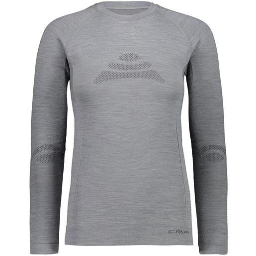 Cmp maglietta intima manica lunga seamless sweat xs-s silver melange