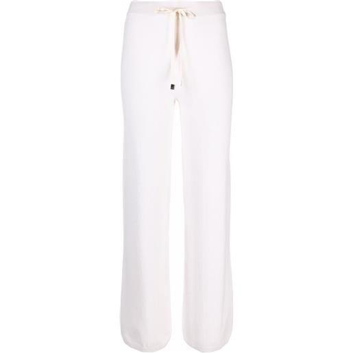 Peserico pantaloni sportivi con coulisse - bianco