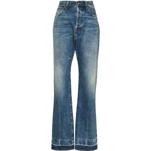 R13 jeans izzy con cavallo basso - blu