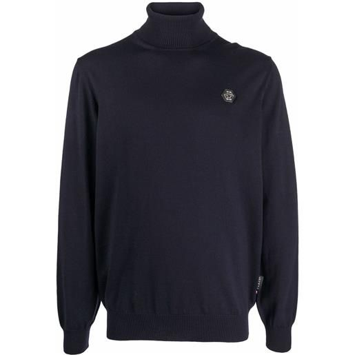 Philipp Plein maglione a collo alto - blu