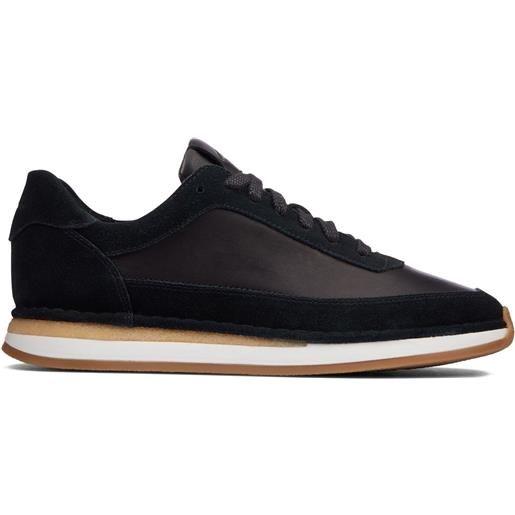 Clarks sneakers - craft run lace pelle scamosciata nera