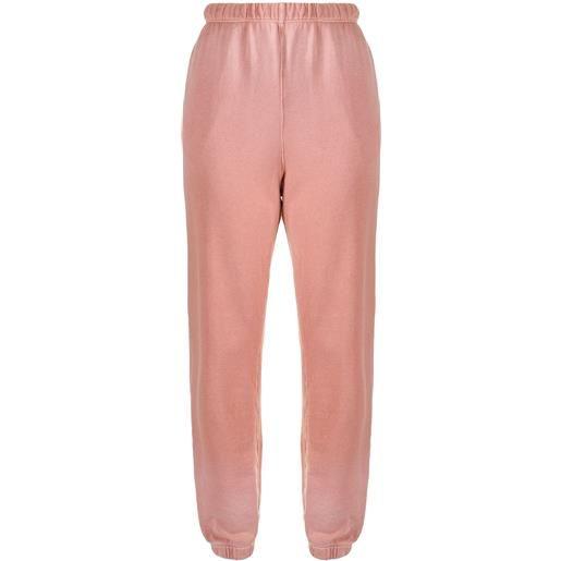 RE/DONE pantaloni sportivi elasticizzati - rosa