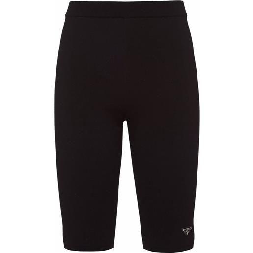Prada shorts con logo - nero