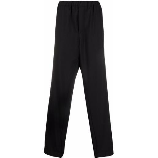 OAMC pantaloni dritti con cavallo basso - nero