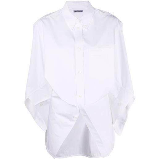 Balenciaga camicia swing twisted - bianco