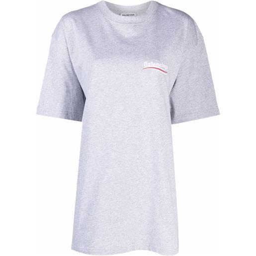 Balenciaga t-shirt con stampa - grigio