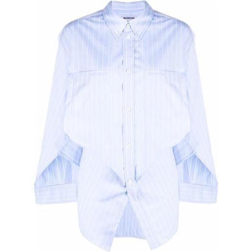 Balenciaga camicia swing twisted - blu