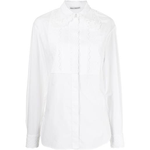 Paco Rabanne camicia con pizzo - bianco