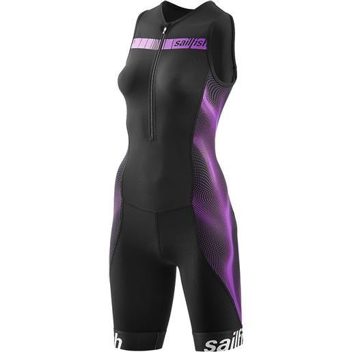 Sailfish body triathlon senza maniche comp m black / berry