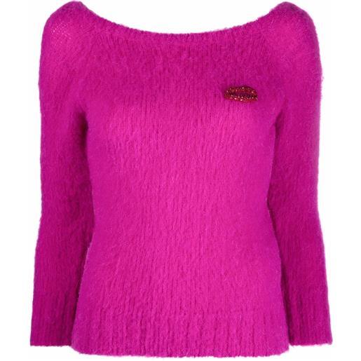 Nº21 maglione con scollo a barca - rosa