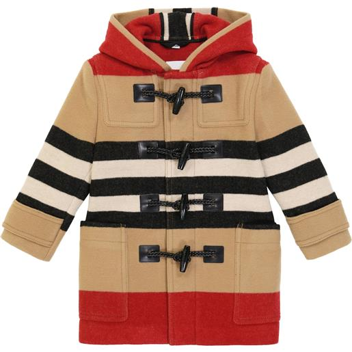 Burberry Kids cappotto channing in lana a righe