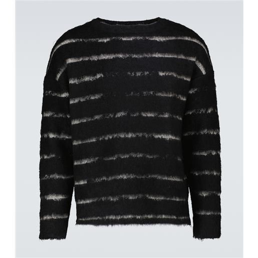 Saint Laurent pullover a righe in lana e mohair