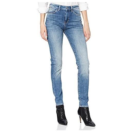 Mavi lucy jeans skinny, verde (green leo 29238), w31/l32 (taglia produttore: 31/32) donna
