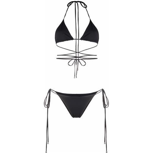 Manokhi bikini a portafoglio - nero