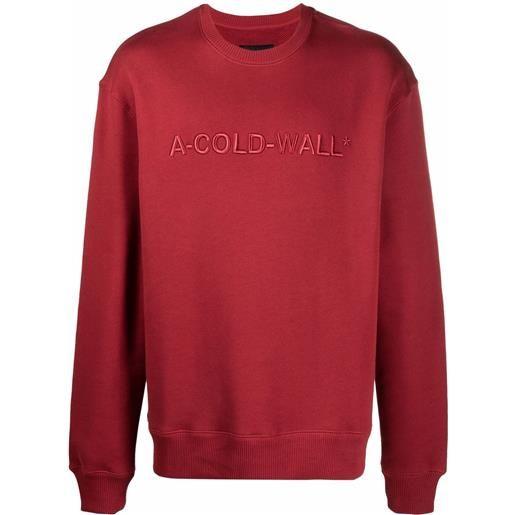 A-COLD-WALL* felpa con ricamo - rosso