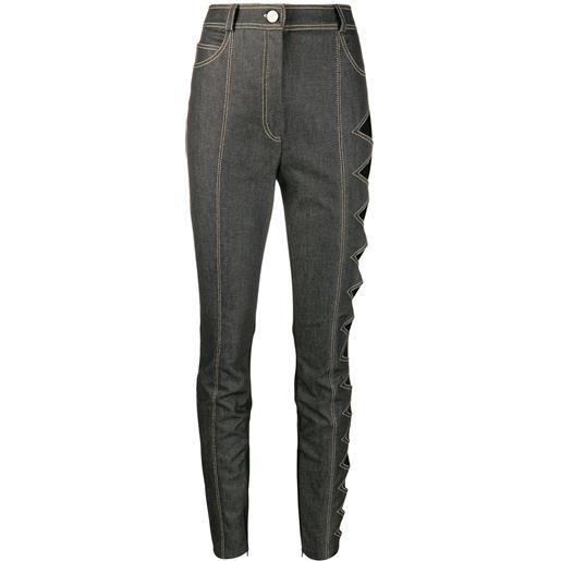 David Koma jeans skinny a vita alta - grigio