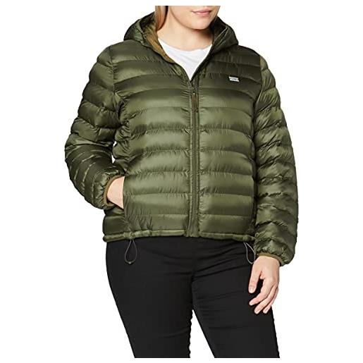 Levi's pandora packable jacket giacca, olive night, xs donna
