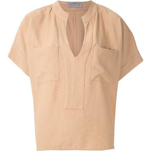 Olympiah blusa maggiolina - marrone
