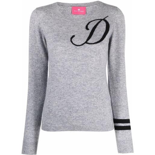 Dee Ocleppo maglione con ricamo d - grigio