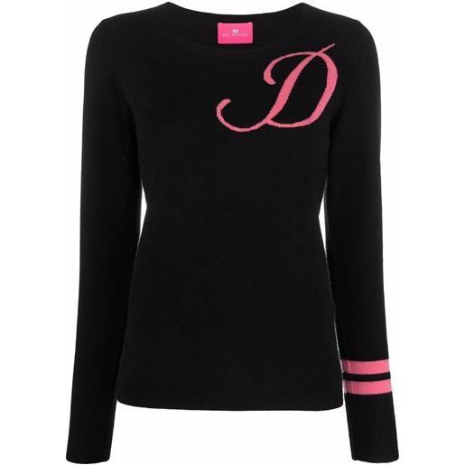 Dee Ocleppo maglione con ricamo d - nero