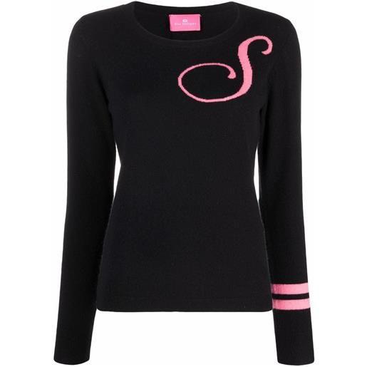 Dee Ocleppo maglione con ricamo s - nero
