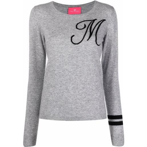 Dee Ocleppo maglione con ricamo m - grigio