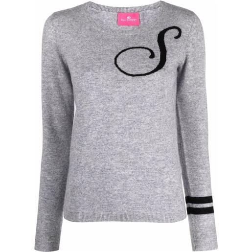 Dee Ocleppo maglione con ricamo s - grigio